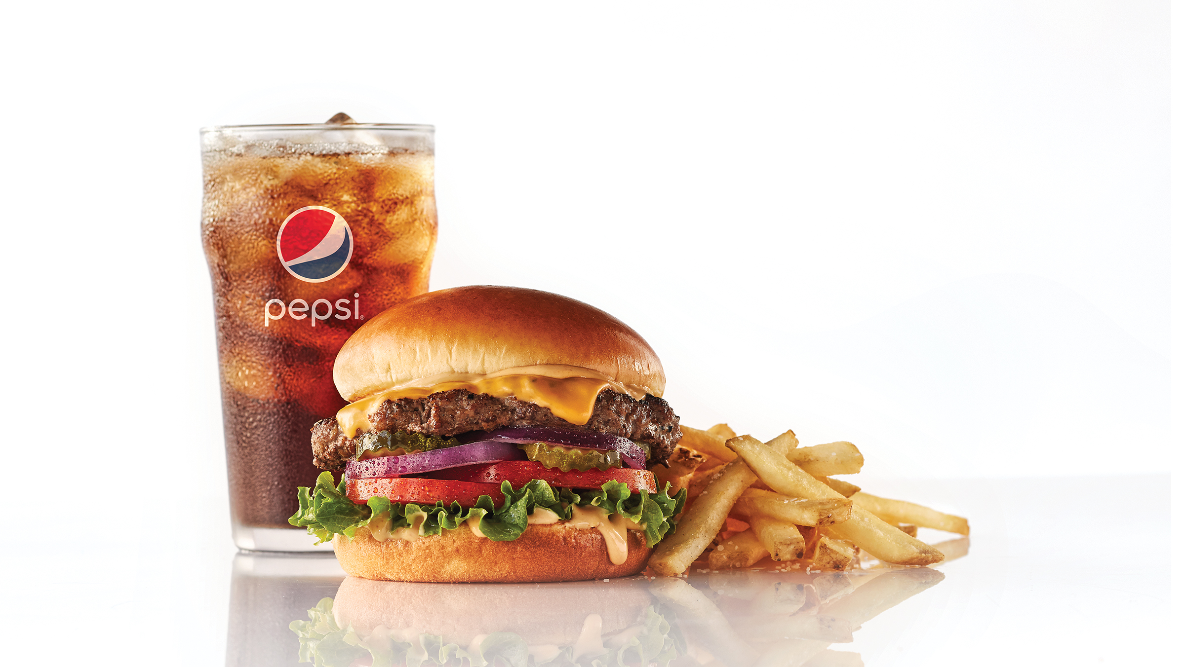 Classic Steakburger Fries and Pepsi®